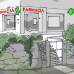 Fachada farmacia Sánchez Gárcia, nueva rotulación